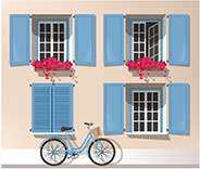 Affordable Exterior Window Shutters Next To LA